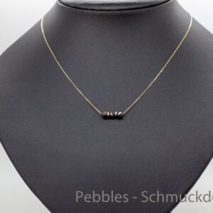 Edel..zarte Goldkette 585 mit schwarzen  Diamanten