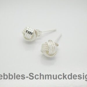 Edel!  Knoten-Ohrstecker  925 Silber