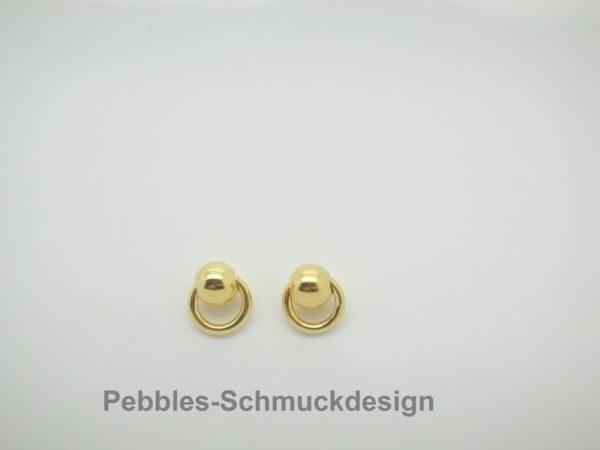 Punkt!!!  Tiny..925 Silber vergoldet glänzend