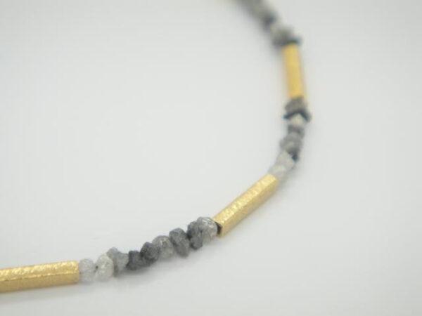 Rohdiamanten!!! edles Armband & 925 vergoldet