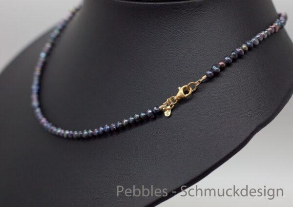 Perlenzauberei...zarte Perlenkette 925 vergoldet