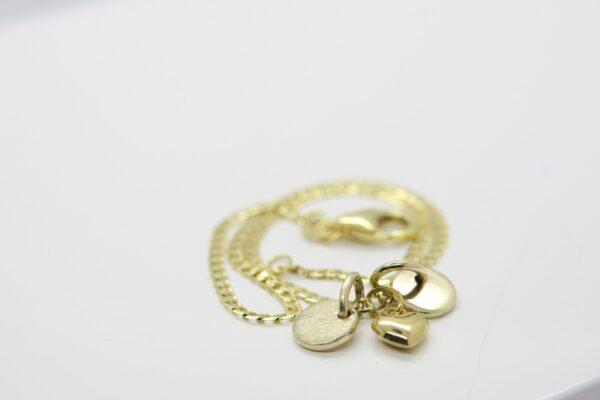 Armband 333 Gold...mit Herz & Plättchen