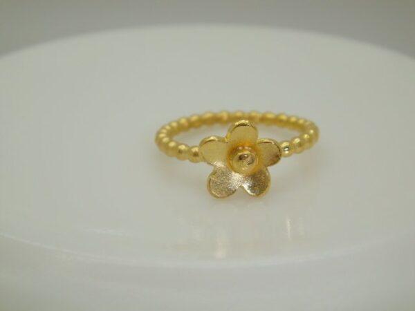 Flower...Blütenring ..sooo zart in 925 vergoldet