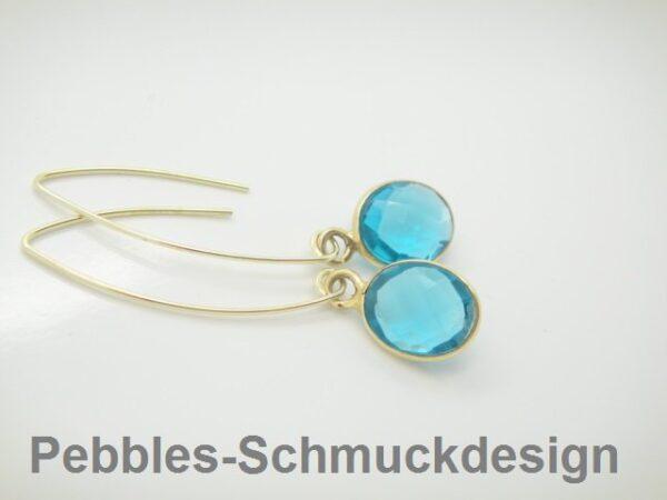 Tiny Pebbles...Ohrhänger Serenity blau  925 verg.