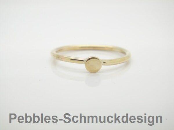 Pünktchen...zarter Ring 333 Gold