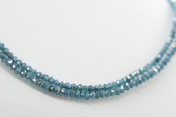 Diamantcollier...blauer Glitzertraum  585er Gold