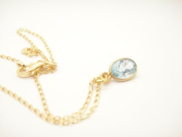 Tiny Pebbles!  Halskette sky-blue Topas 925 verg.