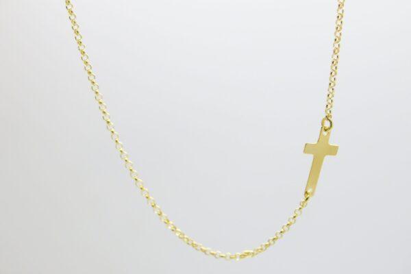 Side Cross tiny ...zartes  Kettchen 925 vergoldet