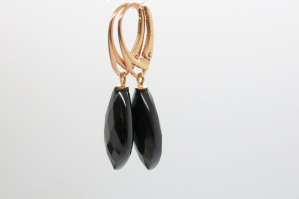 Spinell...edle, schwarze Ohrhänger 925 rosè verg