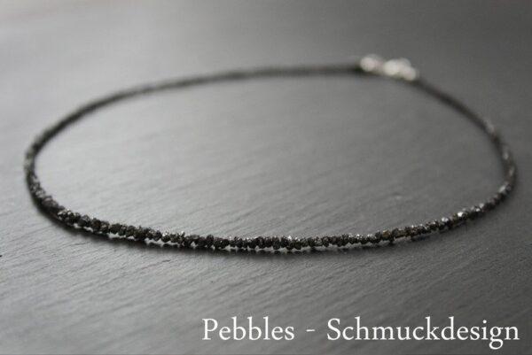 Rohdiamanten schwarz.... ganz edles Collier