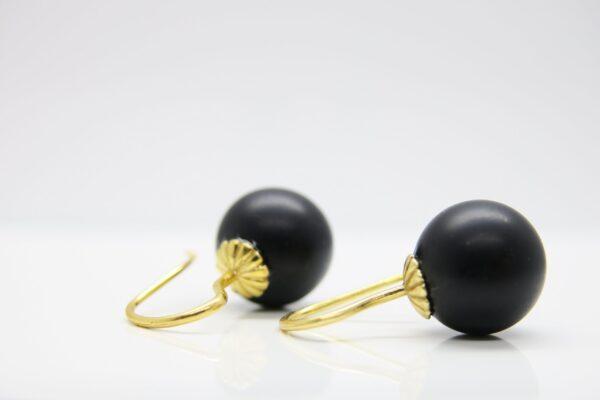 Black velvet..matt schwarze Onyx Ohrringe 925 verg