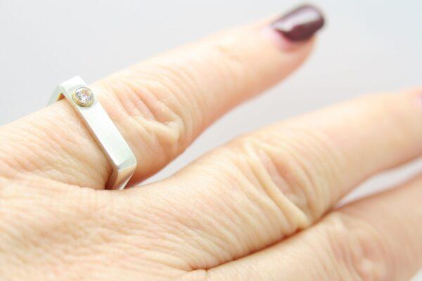 Geometrisch....edler Ring exklusiv 925/585 Gold