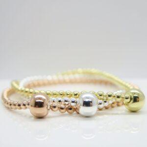 Kügelchen...edles Armband 925 Silber/rosè/verg.