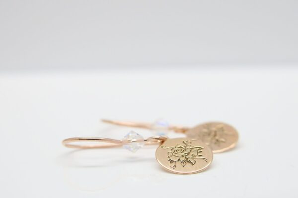 Sparkling Rose...zarte Ohrringe  925 Silber & verg
