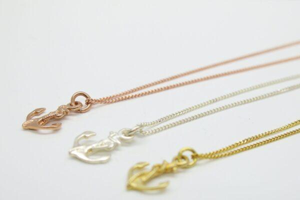 Tiny Anchor...zarte Kette 925  Silber vergoldet