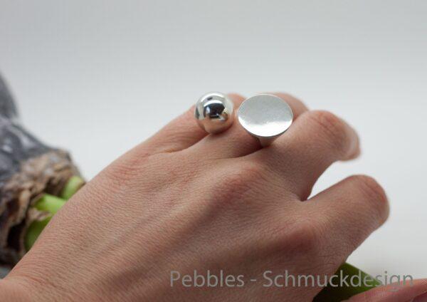 Geometrisch....edler Ring ganz exklusiv 925