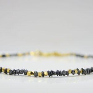 Rohdiamanten.....zartes Armband & 925 vergoldet