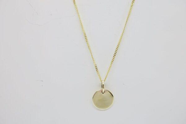Zarte Halskette 8k Gold ... mit 10mm Plättchen 333 Gelbgold