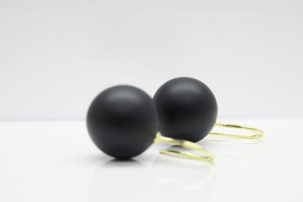 Black beauty..matt schwarze Onyx Ohrringe 925 verg