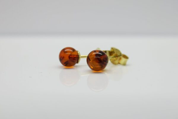 Bernstein tiny ...zarte Ohrstecker 925 vergoldet