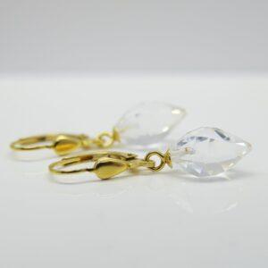 Eiszapfen ...glitzernde Ohrringe in 925 vergoldet
