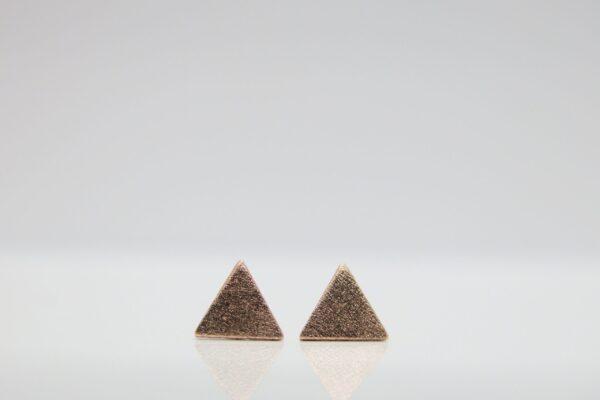 Achtung...Ohrstecker Dreieck 925 rosè vergoldet