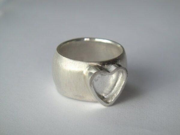 Heart!! 925 Ring mit Herz