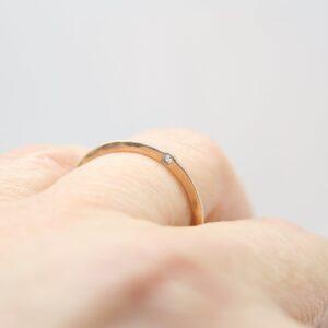 Zarter Ring...585 Rosègold & Brillant