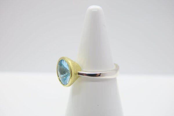 Topas...swiss-blue edler Ring 925 Silber/vergoldet