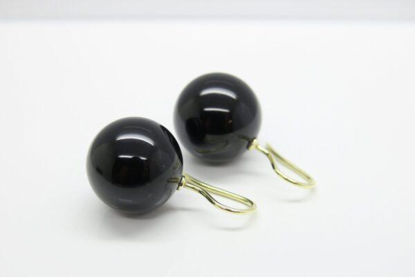 Black beauty..edle schwarze Onyx Ohrringe 925 verg