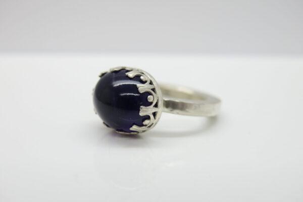 New 2018... lila Amethyst Kronen Ring 925 Silber
