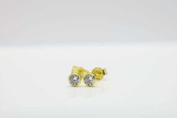 Diamond...zarte Zirkonia Ohrstecker  333er Gold