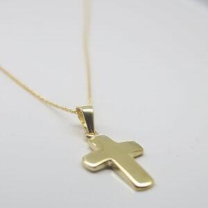 Edel...zarte Goldkette 585 mit Kreuzanhänger 585