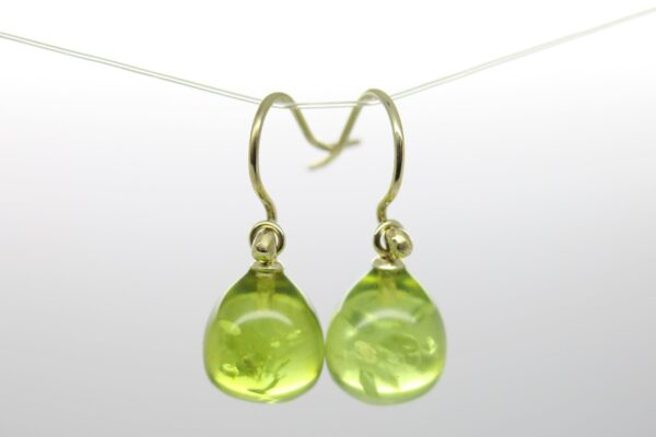 Spring:-) grüner Bernstein...585 Gold Einhänger