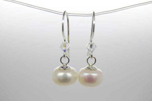 Summer... schimmernde Perlen Ohrringe 925 Silber