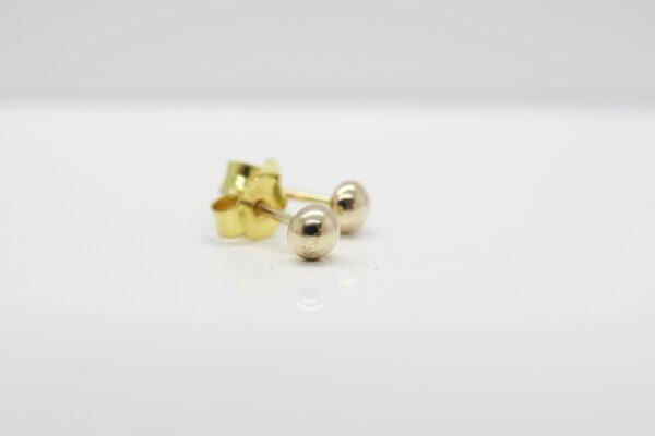 Pebbles-Punkt:-) glänzender Goldohrstecker 333Gold
