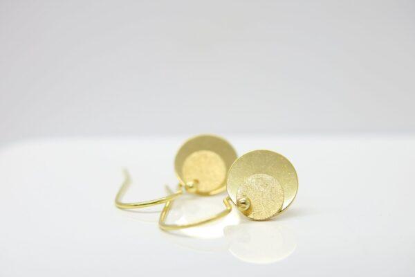 Secret Letter :-) zarte Ohrringe 925 vergoldet