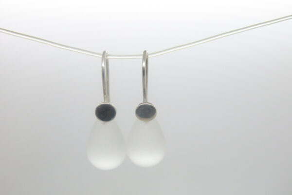 Bergkristall..Einhänger für 925 Silber Ohrringe