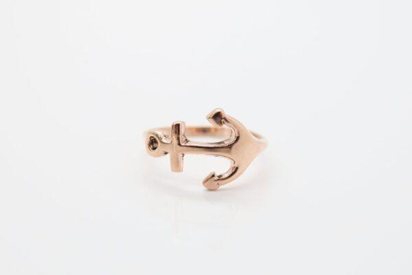 Ring Anchor...925 Silber rosè vergoldet