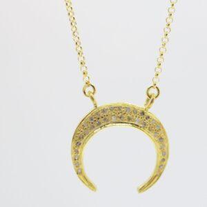 Diamond Moon! ganz edle Halskette 925 rosè verg.