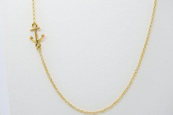Side Anchor..zarte Kette  925 Silber vergoldet