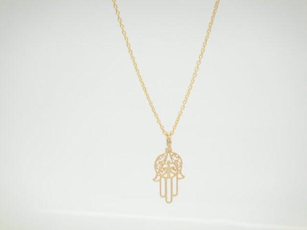 Hamsa! zarte Halskette 925 vergoldet