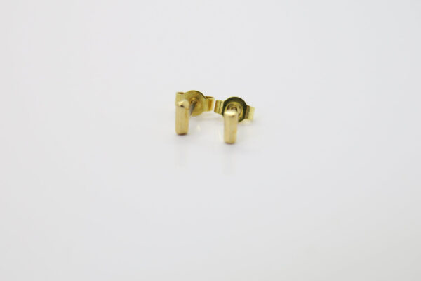 Tiny...5mm Stäbchen Ohrstecker 585/14K Gold