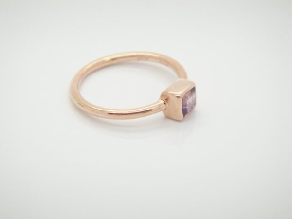 Pur! Ring mit Amethyst  925 Silber rosevergoldet
