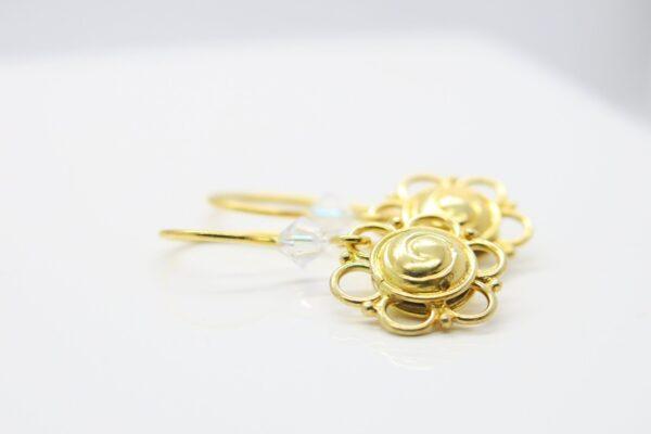Flowers! edle Ohrhänger 925 Silber vergoldet