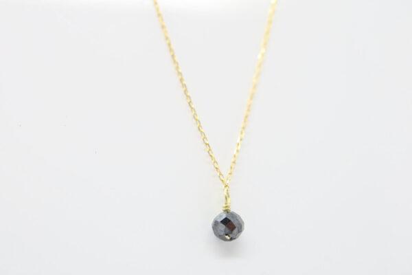 Diamond..edle Goldkette & schwarzer Diamant